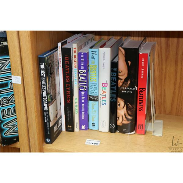 """Selection of Beatles and Beatles related books including """"The Beatles"""" by Bob Spitz, """"The Beatles Ly"""