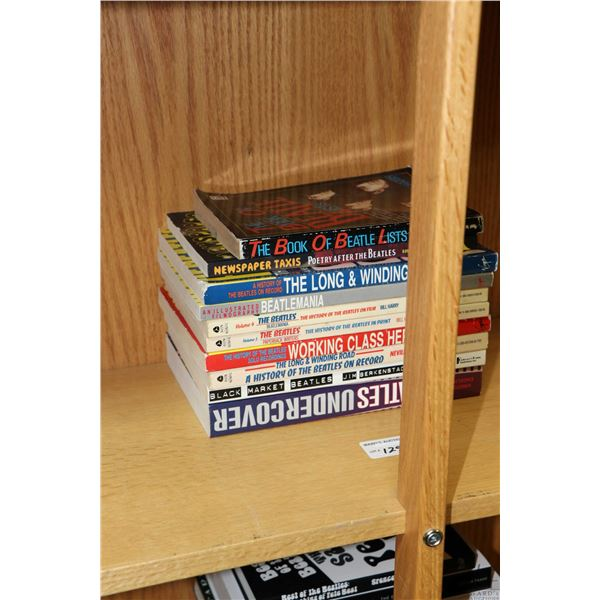 """Selection of Beatles and Beatles related books including Avon Books """"The Long and Winding Road: The"""
