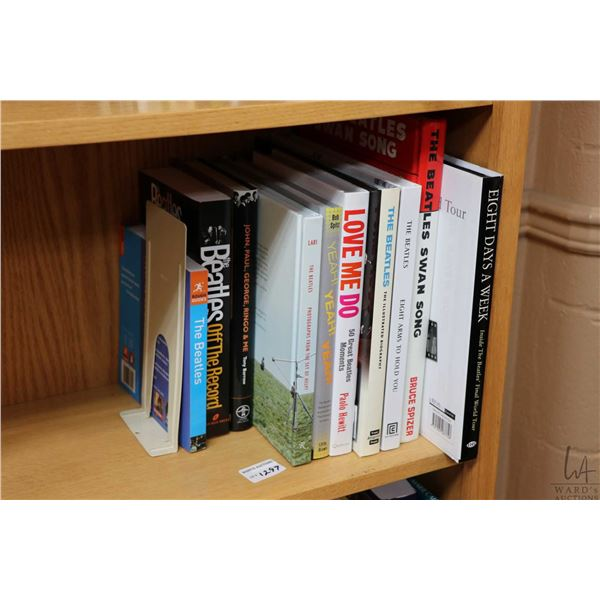 """Selection of Beatles and Beatles related books including """"Eight Days a Week-Inside the Beatles:Final"""