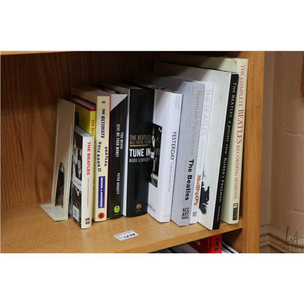 """Selection of Beatles and Beatles related books including """"The Complete Beatles Recording Sessions"""","""