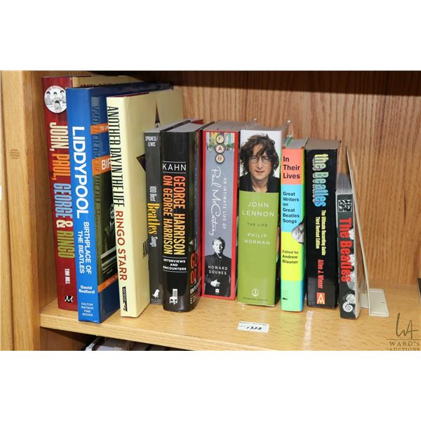 """Selection of Beatles and Beatles related books including """"John Lennon- The Life"""" by Philip Norman, """""""