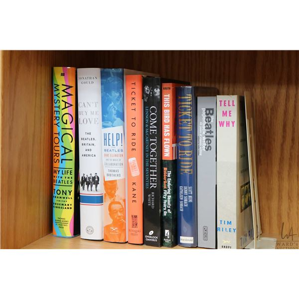 """Selection of Beatles and Beatles related books including """"Magical Mystery Tour-Life of the Beatles"""","""