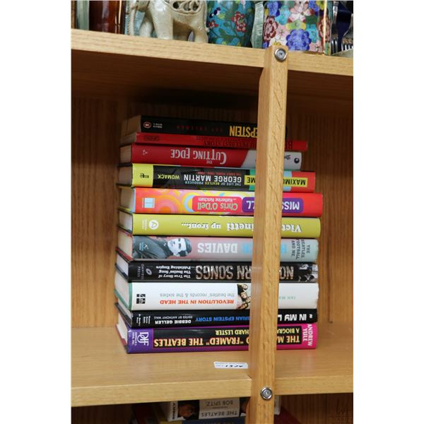"""Selection of Beatles and Beatles related books including """"The Man Who Framed the Beatles"""", """"The Beat"""