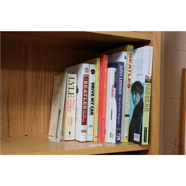 """Selection of Beatles and Beatles related books including """"The Beatles and Fashion; Fab Gear"""" and """"Jo"""