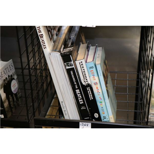 """Selection of Beatles and Beatles related books including """"The Beatles- on the Road 1964-1966"""", """"The"""
