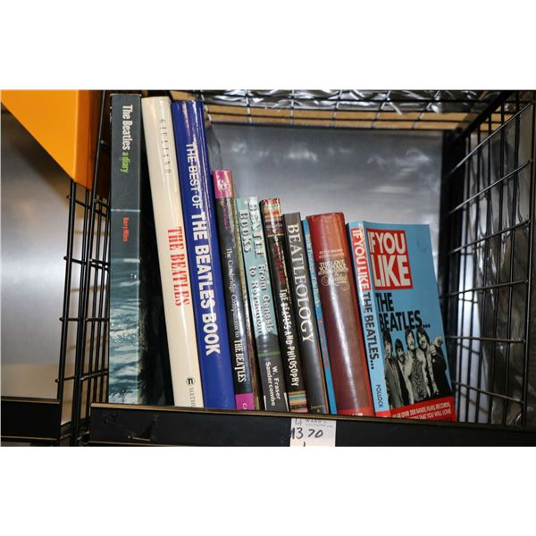 """Selection of Beatles and Beatles related books including """"Beatleology"""" , """"The Best of the Beatles Bo"""