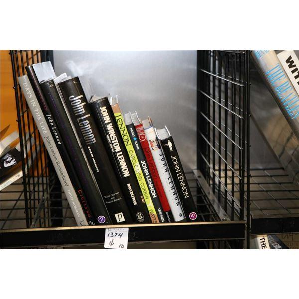 """Selection of John Lennon and related books including """"John Lennon Unseen Archives"""", """"John Winston Le"""