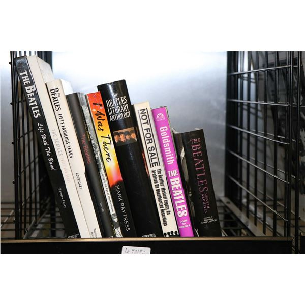 """Selection of Beatles and Beatles related books including """"The Beatles-Life with the Band"""", """"The Beat"""