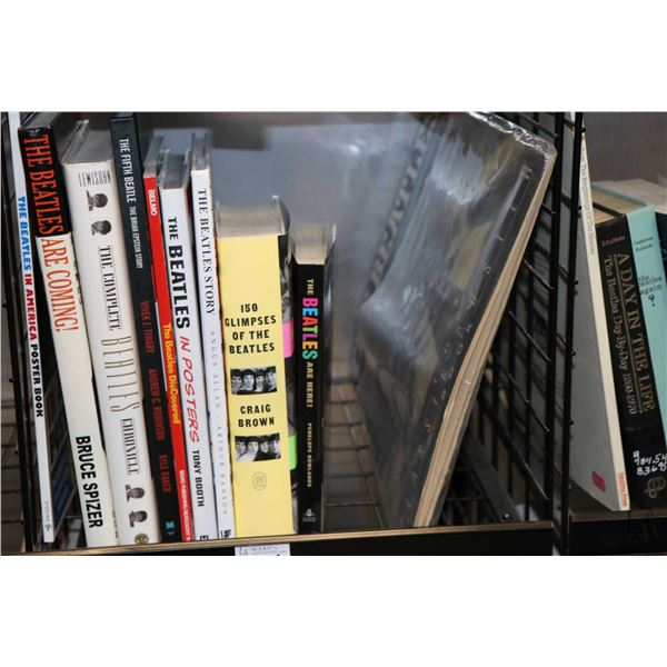 """Selection of Beatles and Beatles related books including """"The Complete Beatles Chronicle"""", """"150 Glim"""