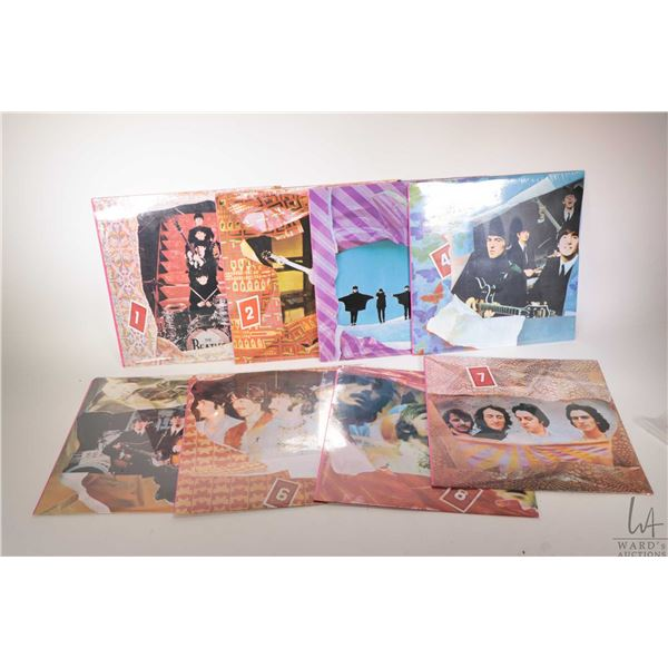 Eight sealed Beatles LPs including a series numbered 1-8 issued by World Records Ltd. and marked Pri