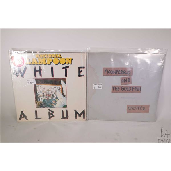 """Two factory sealed LPs including """"National Lampoon White Album"""" made in the USA and """"Moonpedro and t"""