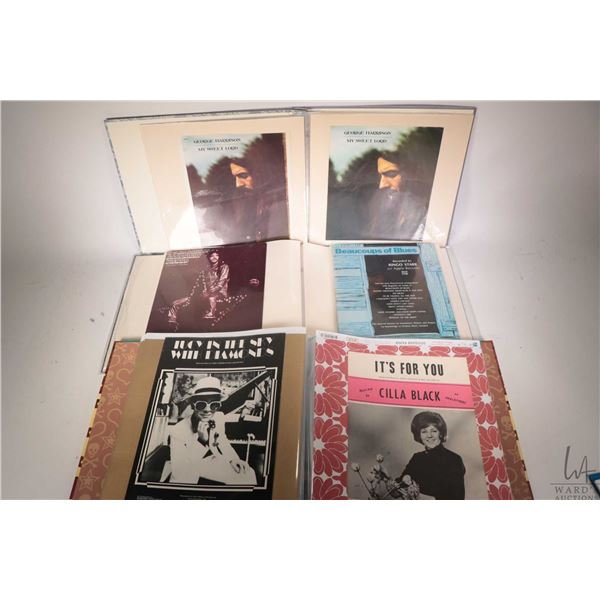 Three folios of sheet music including twelve George Harrison, fourteen Ringo Starr and an assorted f