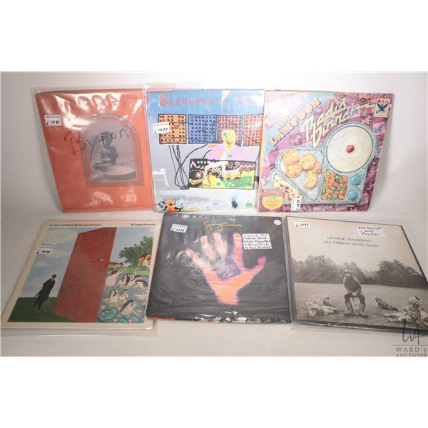 """Five George Harrison LPs including """"All Things Must Pass"""" ( 3 pc. set with poster Canadian pressing)"""