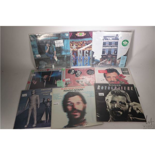 """Nine Ringo Starr LPs including """"Rotogravurea"""", """" Blast from your Past ( Canadian pressing) factory s"""