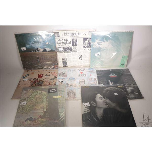 "Eight John Lennon LPs including ""Double Fantasy"" ( Canadian), factory sealed album ""John Lennon"" ( U"