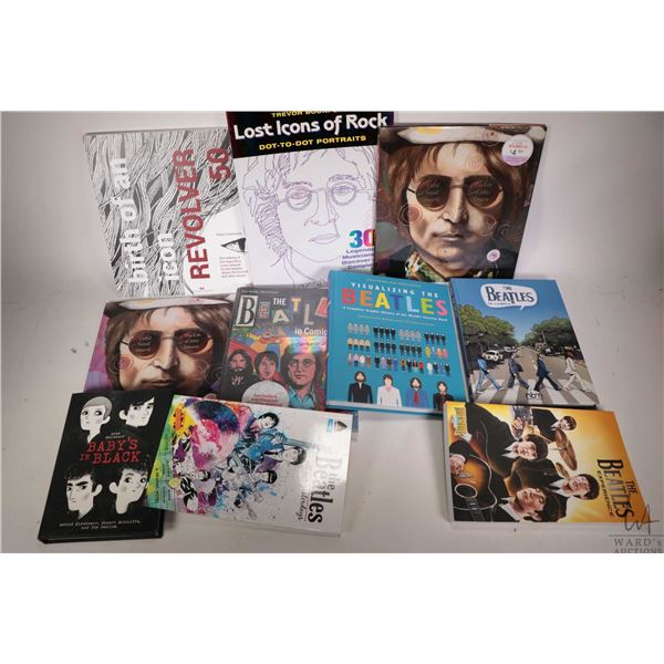 """Selection of Beatles books including ?Last Icons of Rock"""", """"The Beatles in Comics"""" etc. Ten books in"""