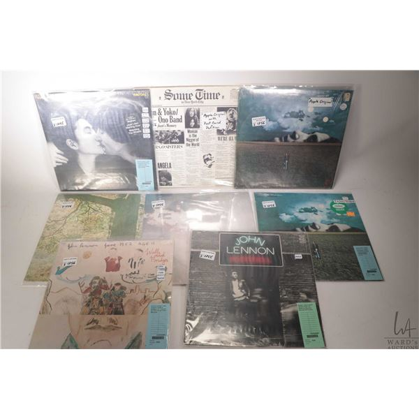 """Eight John Lennon LPs including factory sealed """"Rock 'n' Roll"""" (Great Britain), factory sealed """"Wall"""