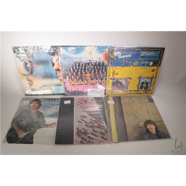 """Five George Harrison LPs including """"Somewhere in England"""" (Canadian pressing), factory sealed """"Cloud"""