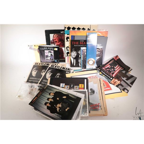 Selection of Beatles and Beatles related ephemera including empty album covers, magazines, posters e