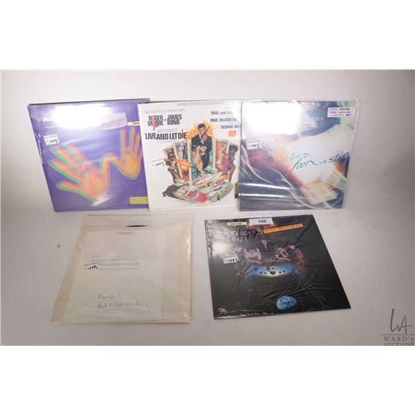 """Five Paul McCartney records including factory sealed """"Wingspan-Hits and History"""", factory sealed """"Li"""