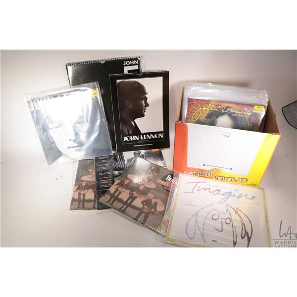 Selection of Lennon and related wall calendars, mostly from the 2000s