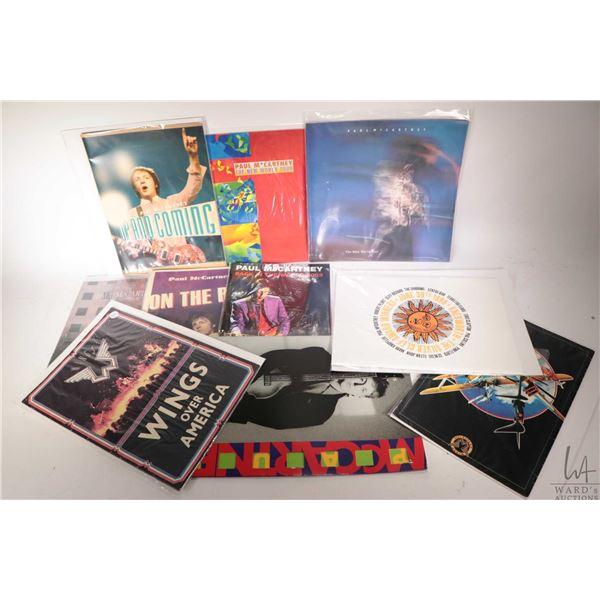 Nine Paul McCartney and related concert programs etc.