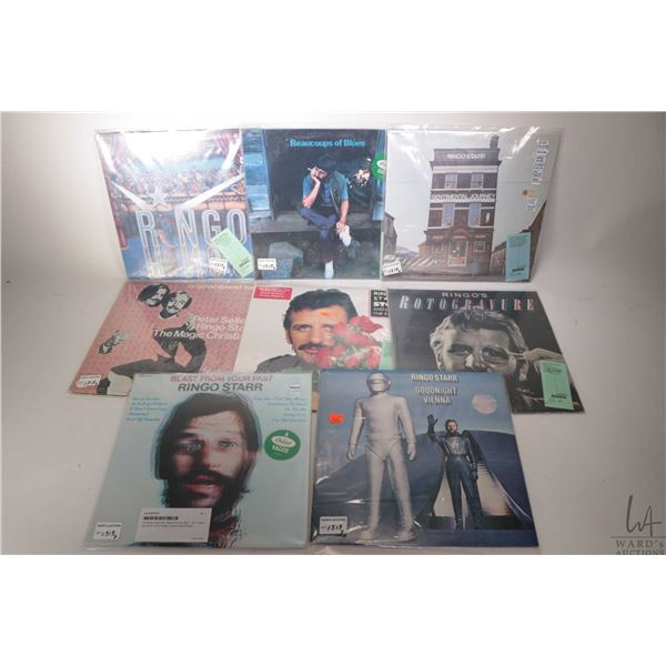 """Eight Ringo Starr LPs including factory sealed """"Blast from Your Past"""" ( US Capitol pressing), factor"""