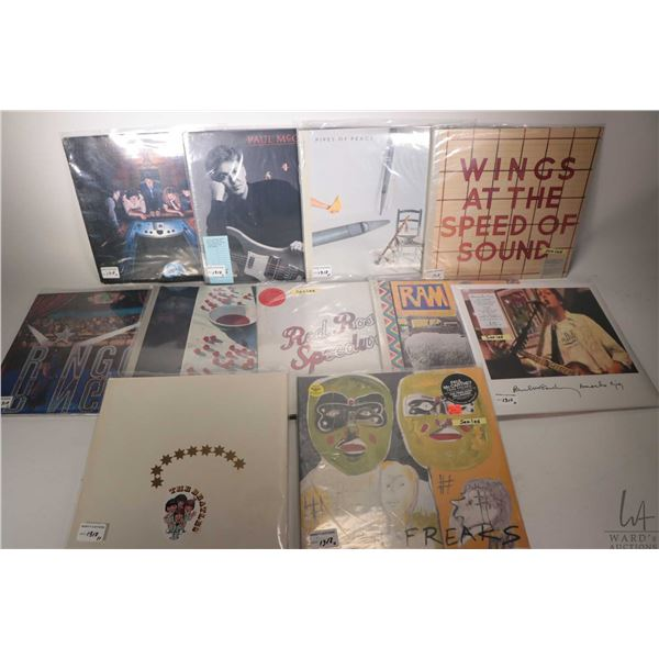 """Selection of Beatles, McCartney or Ringo Starr records including factory sealed """"Twin Freaks"""", facto"""