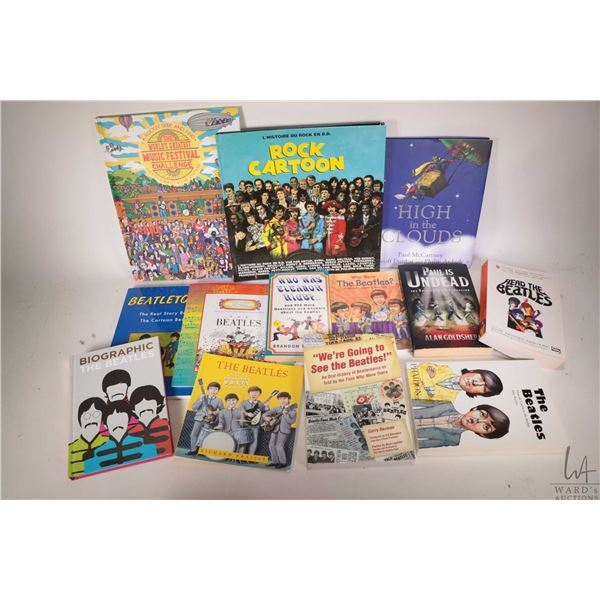 """Selection of Beatles and Beatles related books including """"High in the Clouds"""", """"We're Going to See t"""