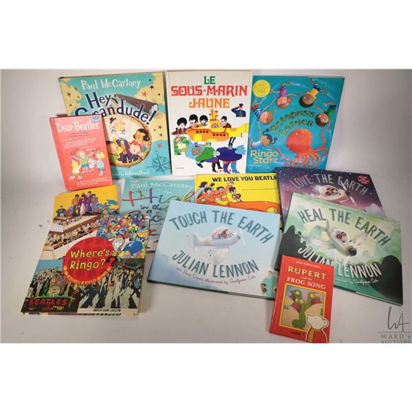 """Selection of Beatles and Beatles related books including """"Octopus's Garden"""" and """"Touch the Earth"""". T"""