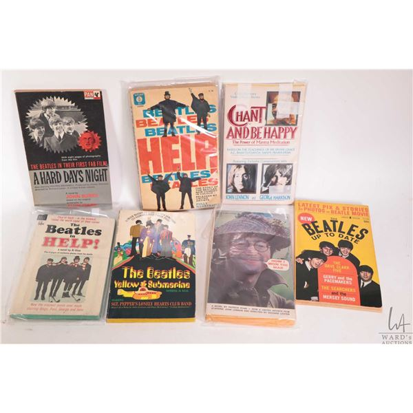 """Seven Beatles related soft cover pocket books """"Help"""" and """"Yellow Submarine"""" etc."""