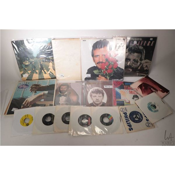 """Nine Beatles or Beatles related LPs including """"Rotogravure"""", """"Ringo the Fourth"""", """"Old Wave"""", """"Ram"""","""