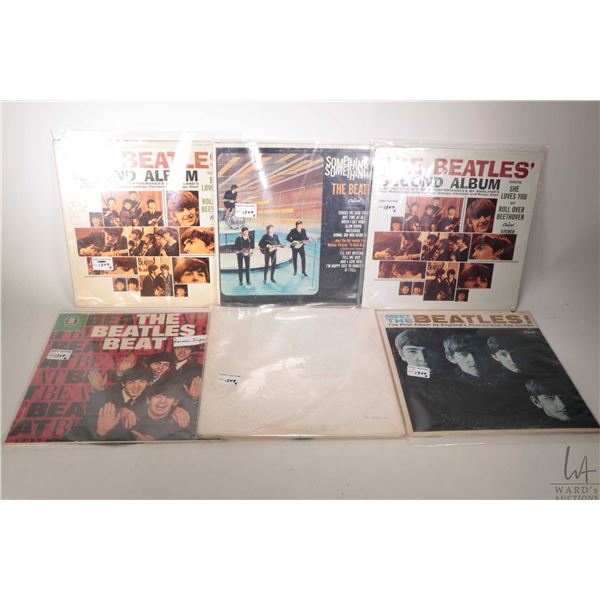 """Six Beatles albums including """"The Beatles Beat"""" ( made in Germany) """"The White Album"""", """"Meet the Beat"""