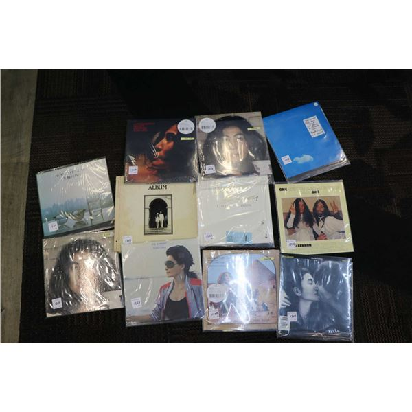 """Eleven Lennon or Yoko albums including """"Live Peace in Toronto"""" (UK Import) """"One and One and One is T"""