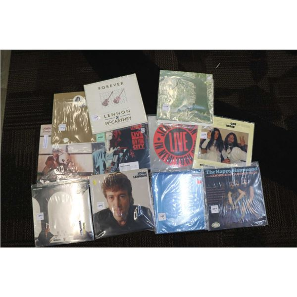 """Eleven Lennon or Yoko LPs including """"Two Virgins"""" ( US pressing), """"Teddy  Boy"""", """"Live in New York Ci"""