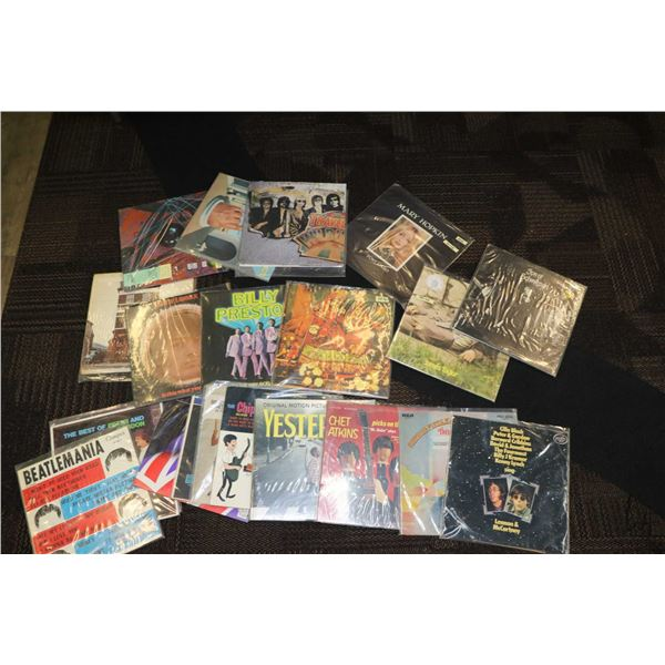 """Twenty one assorted LPs including """"The Everly Bros."""" ,""""The Best of Peter and Gordon"""", """"The Beatle Be"""