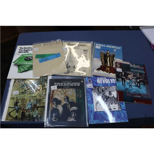 Seven Beatles or related song books including ?At The Hollywood Bowl?, Wings Greatest Hits, Single 1