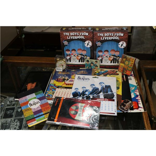 Selection of Beatles collectibles including Readers, two boxed Boys from Liverpool- Crochet your fav