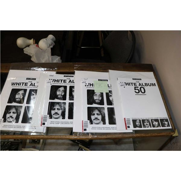 """A copy  of 100% Unofficial """"The White Album 50th Anniversary"""" plus three copies of The 100% Unoffici"""