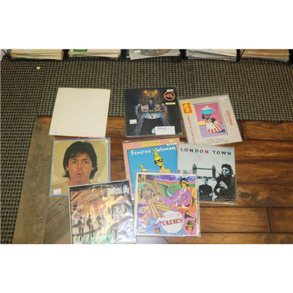 """Eight Beatles or McCartney recordings including """"Something New"""" ( Apple label), """"McCartney II"""" ( Can"""