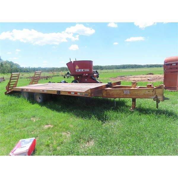 90 Butler Pintle Hitch 22' Flat Deck Plus Beaver & Ramps Tandem Dually w Safety & TOD
