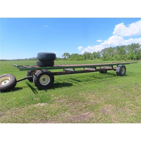 36' Steel Decked Hay Wagon w 18- 22.5 Tires comes w Spare Tire & Rim & 2 Extra Tires