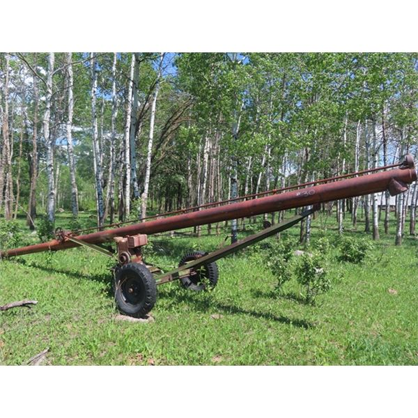 """Scoop A Second Auger 6"""" x 28' w B & S Engine N R"""