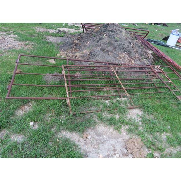 2 Metal Gates 1) 8' & 1) 12'