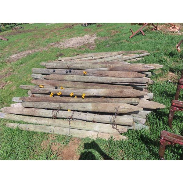 55- Treated Fence Post 6' Used