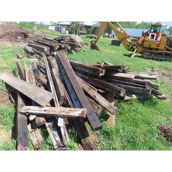 """Pile 2.5"""" x 5"""" x 9.5"""" Treated Decking Boards"""