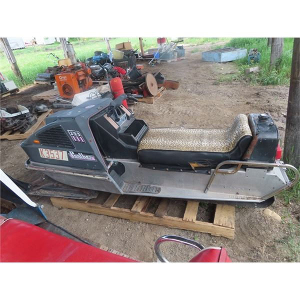 1972 Arctic Cat Panther 399cc Snowmobile, Motor Turns Over But Not Running S#2063862