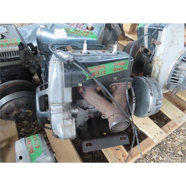 2 Polaris 2 Cylinder Snowmobile Engines (333cc Turns Over ) & (340cc Siezed)
