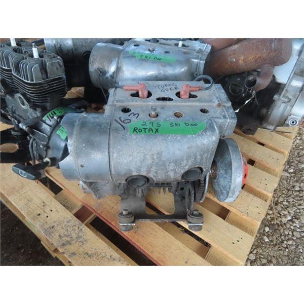 Ski Doo Rotex 295 2 Cylinger Snowmobile Engine - Turns Over