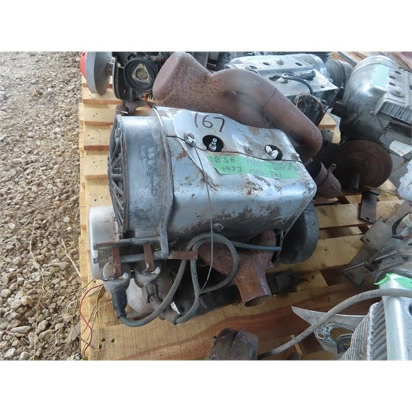 1973 Motor Ski BSE 440 2 Cyl Snowmobile Engine Turns Over
